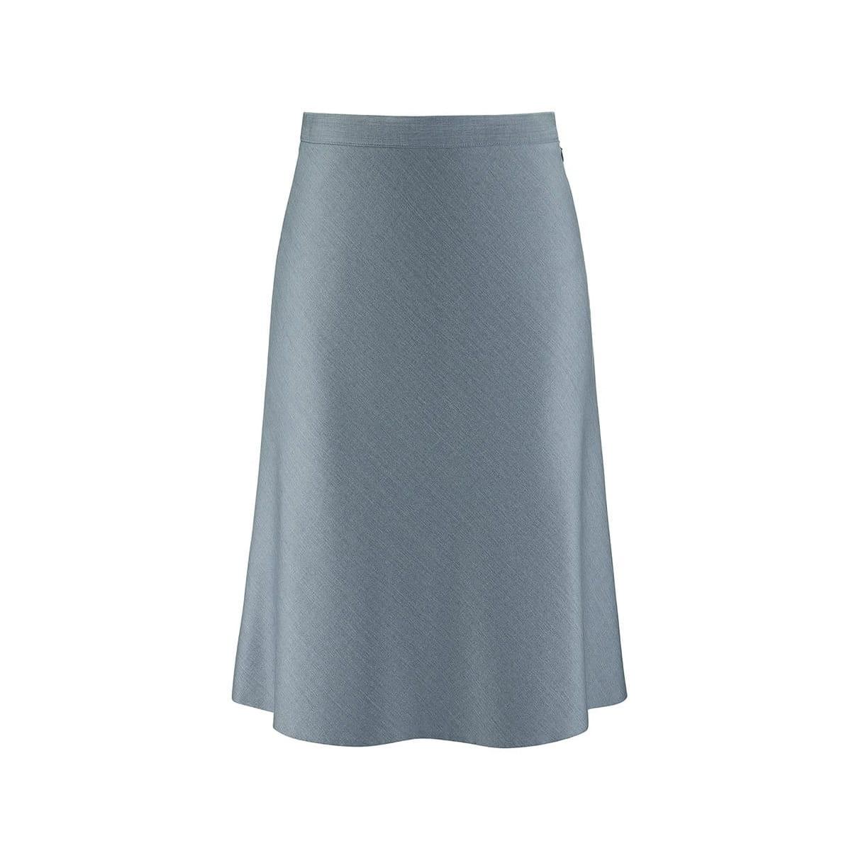 abf98e71 Błękitna spódnica, rozkloszowana