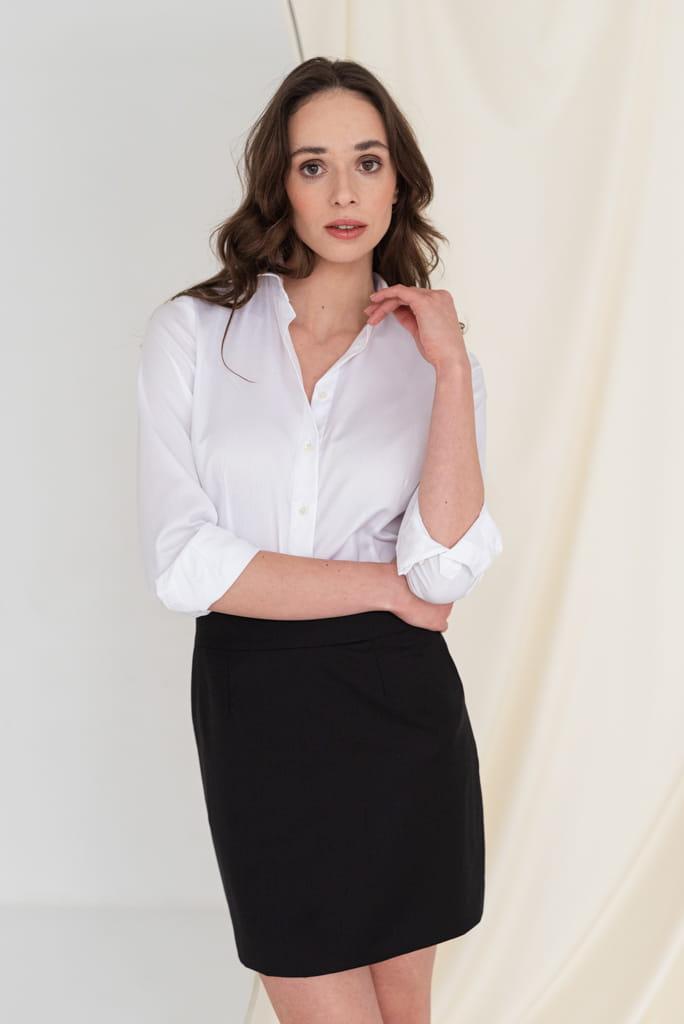 CLASSICS, koszula bawełniana, biała Monika Kamińska  sDzTZ